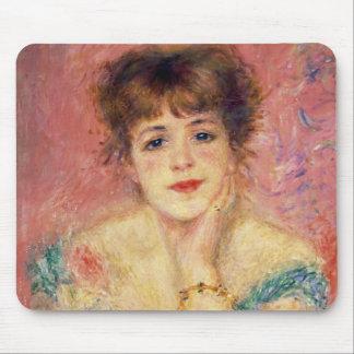 Retrato de la actriz Jeanne Samary 1877 Tapetes De Ratón