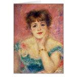 Retrato de la actriz Jeanne Samary, 1877 Tarjeta De Felicitación