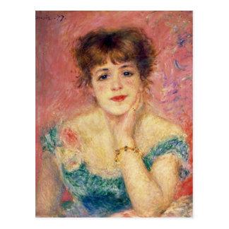 Retrato de la actriz Jeanne Samary, 1877 Tarjeta Postal