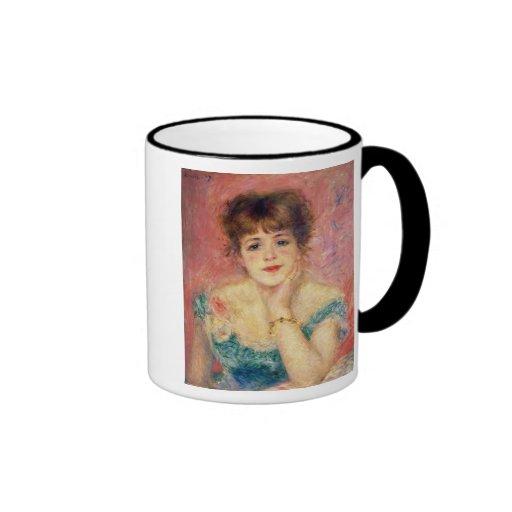 Retrato de la actriz Jeanne Samary, 1877 Taza De Dos Colores