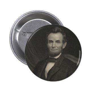 Retrato de la aguafuerte de Abraham Lincoln Pins