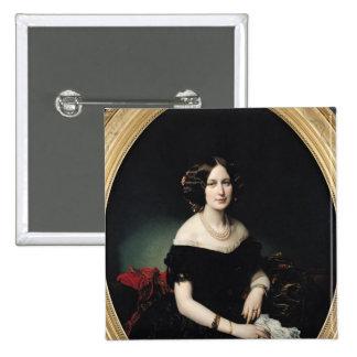 Retrato de la baronesa de Weisweiller, 1853 Pin Cuadrado