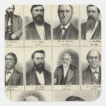 Retrato de la basura y de Gaskill de los médicos Pegatina Cuadrada