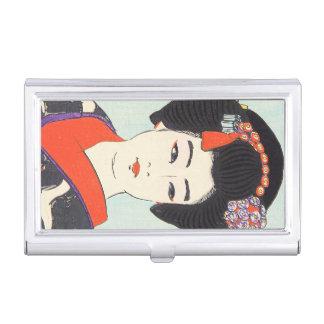 Retrato de la bella arte del japonés de Maiko Caja De Tarjetas De Visita