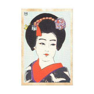 Retrato de la bella arte del japonés de Maiko Shun Lona Envuelta Para Galerías
