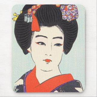 Retrato de la bella arte del japonés de Maiko Shun Tapete De Ratón