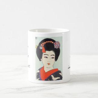 Retrato de la bella arte del japonés de Maiko Taza