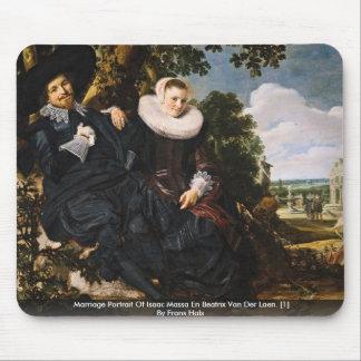 Retrato de la boda de Isaac Massa Alfombrilla De Ratón