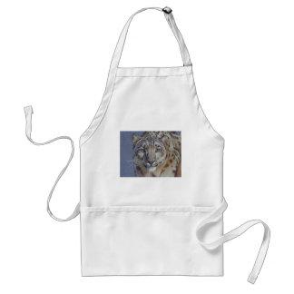 Retrato de la cabeza del tigre delantal