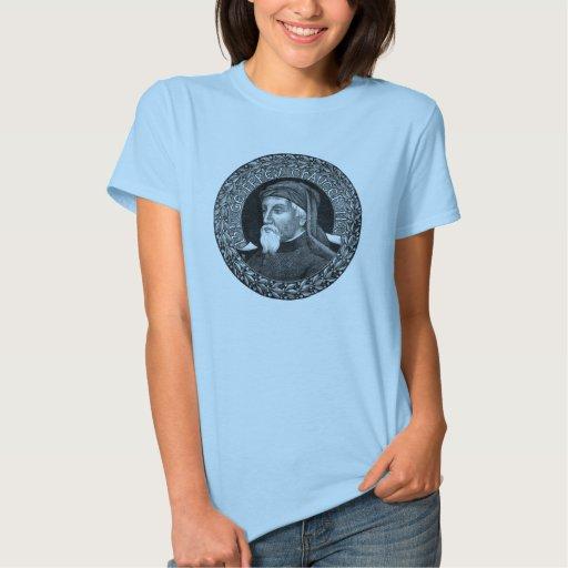 Retrato de la camiseta de Geoffrey Chaucer Playera