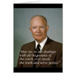 Retrato de la Casa Blanca de Dwight D. Eisenhower Felicitación