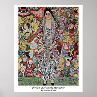 Retrato de la cerveza de Friederike Maria de Gusta Póster