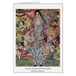 Retrato de la cerveza de Friederike Maria de Klimt Tarjeta De Felicitación