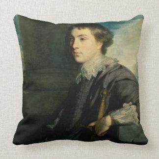 Retrato de la chaqueta de punto de Juan Charles, Cojín