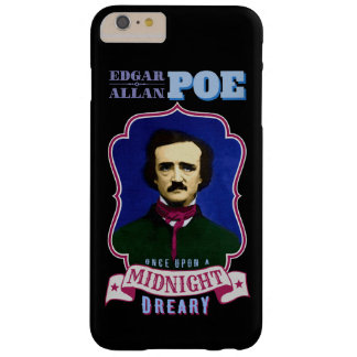Retrato de la cita del cuervo de Edgar Allan Poe Funda De iPhone 6 Plus Barely There
