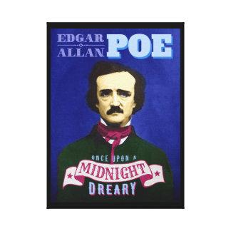 Retrato de la cita del cuervo de Edgar Allan Poe Lona Estirada Galerías
