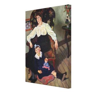 Retrato de la coca y de su Daughter, 1913 de Marie Impresiones En Lienzo Estiradas