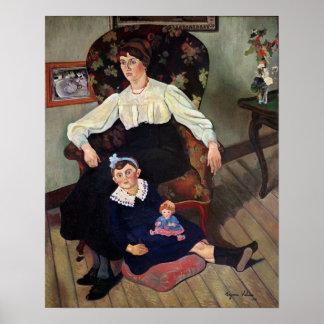 Retrato de la coca y de su Daughter, 1913 de Marie Posters