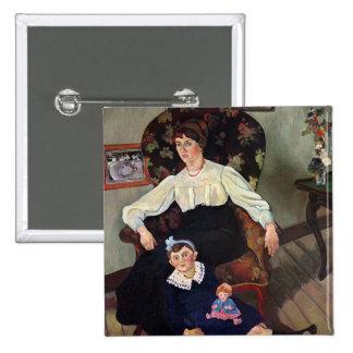 Retrato de la coca y de su Daughter, 1913 de Marie Pin Cuadrado
