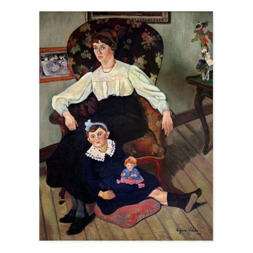 Retrato de la coca y de su Daughter, 1913 de Marie Tarjetas Postales