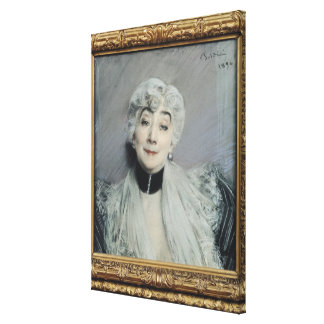 Retrato de la condesa de Martel de Janville Impresión En Lienzo