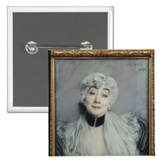 Retrato de la condesa de Martel de Janville Pin Cuadrada 5 Cm