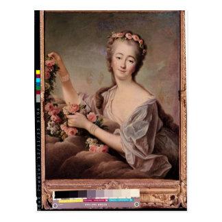 Retrato de la condesa du Barry como flora Tarjetas Postales