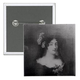 Retrato de la condesa Ehrengard Melusina Pin Cuadrada 5 Cm
