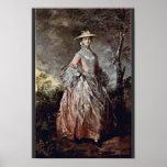 Retrato de la condesa Howe de Maria de Thomas Gain Impresiones