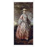 Retrato de la condesa Howe de Maria de Thomas Gain Lona Publicitaria