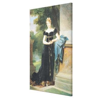 Retrato de la condesa Walewska de Marie Laczinska Impresión En Lienzo Estirada