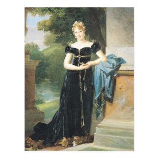 Retrato de la condesa Walewska de Marie Laczinska Postal
