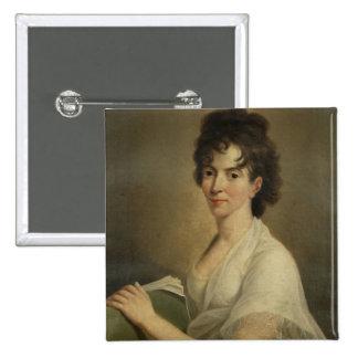 Retrato de la Constanza viuda Mozart, 1802 Pin Cuadrada 5 Cm