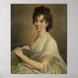Retrato de la Constanza viuda Mozart, 1802 Poster