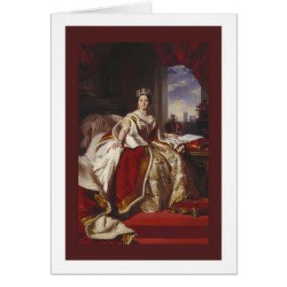 Retrato de la coronación de la reina Victoria Felicitacion