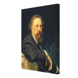 Retrato de la cuenta Alexey K. Tolstoy del autor Impresiones En Lona