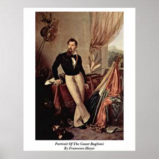 Retrato de la cuenta Baglioni de Francesco Hayez Poster