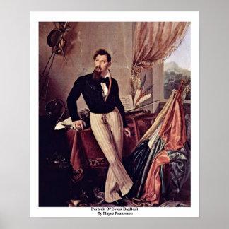 Retrato de la cuenta Baglioni de Hayez Francisco Póster