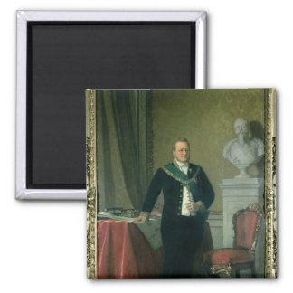 Retrato de la cuenta Camillo Berso de Cavour Imán Cuadrado