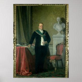 Retrato de la cuenta Camillo Berso de Cavour Impresiones