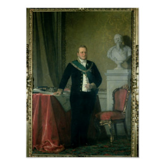 Retrato de la cuenta Camillo Berso de Cavour Póster