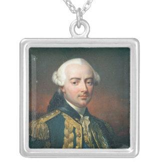 Retrato de la cuenta de Charles Enrique de Estaing Colgante Cuadrado