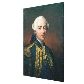 Retrato de la cuenta de Charles Enrique de Estaing Impresiones En Lona Estiradas