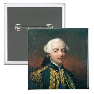 Retrato de la cuenta de Charles Enrique de Estaing Pin Cuadrada 5 Cm