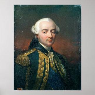 Retrato de la cuenta de Charles Enrique de Estaing Póster