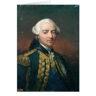 Retrato de la cuenta de Charles Enrique de Estaing Tarjeta De Felicitación