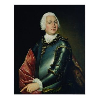 Retrato de la cuenta Ernst Cristóbal von Manteuffe Póster