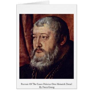 Retrato de la cuenta Palatine Otto Heinrich Detai Tarjetón