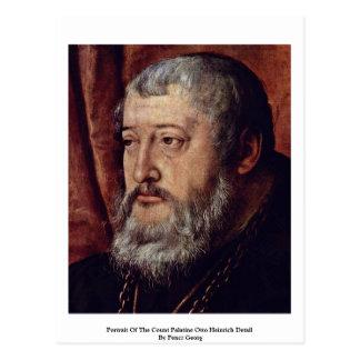 Retrato de la cuenta Palatine Otto Heinrich Detai Tarjetas Postales