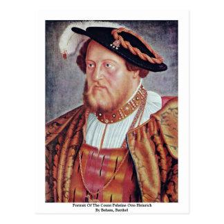 Retrato de la cuenta Palatine Otto Heinrich Tarjeta Postal